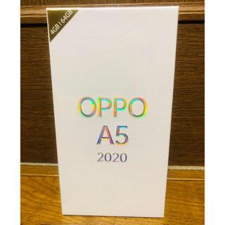 ラクテン(Rakuten)の【新品未開封】OPPO A5 2020 グリーン 楽天モバイル対応(スマートフォン本体)