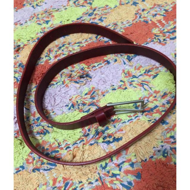 MUJI (無印良品)(ムジルシリョウヒン)の赤ベルト♡無印良品 レディースのファッション小物(ベルト)の商品写真
