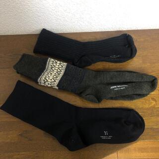 コムデギャルソン(COMME des GARCONS)のコムデギャルソン y's ワイズ靴下 ソックス 3セット 1点未使用(ソックス)