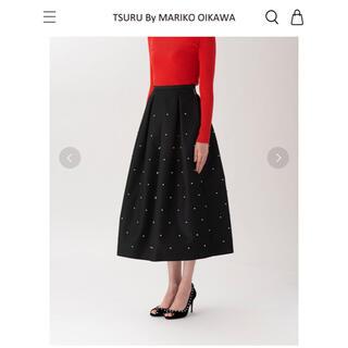 ツルバイマリコオイカワ(TSURU by Mariko Oikawa)のTSURU By MARIKO OIKAWA コットンパールスカート(ロングスカート)