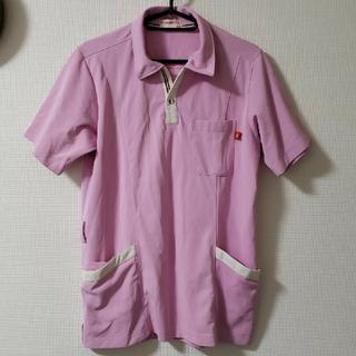 ルコックスポルティフ(le coq sportif)のLecoq ルコック 男女兼用ニットシャツ  介護ユニフォーム ポロシャツ M(ポロシャツ)