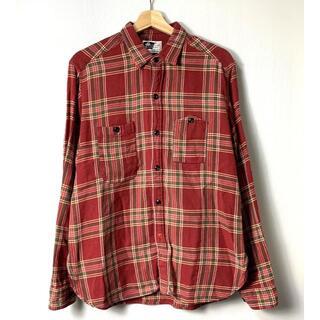エンジニアードガーメンツ(Engineered Garments)の【H】エンジニアードガーメンツ 山ポケット ネルシャツ 猫目ボタン 長袖 M(シャツ)