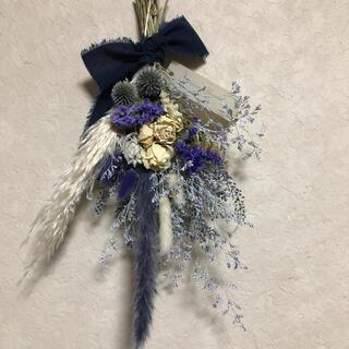 専用♡No.177 white*purple ドライフラワースワッグ♡(ドライフラワー)