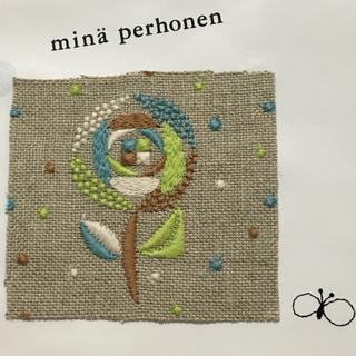ミナペルホネン(mina perhonen)のミナペルホネン sand rose ハギレ 3c(生地/糸)