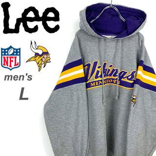 リー(Lee)の【希少☆Lee製】NFL ミネソタ・バイキングス スウェットパーカー(パーカー)