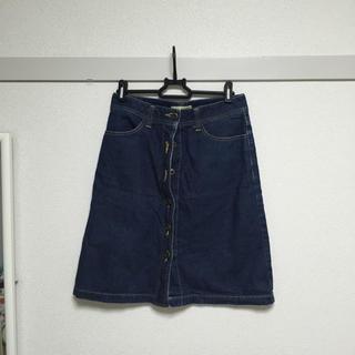 ドゥファミリー(DO!FAMILY)の台形デニムスカート(ひざ丈スカート)