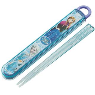 アナトユキノジョオウ(アナと雪の女王)の[新品 未開封] アナ雪 エルサ&アナ&オラフ 箸+スライド式箸箱セット(弁当用品)