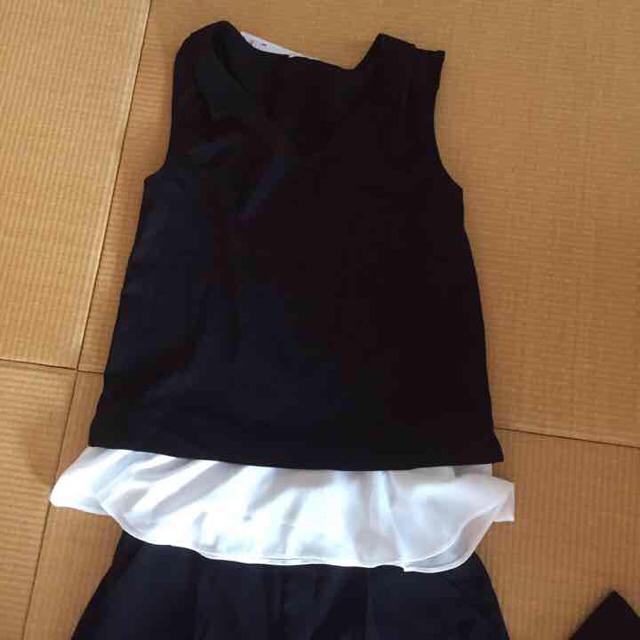 GU(ジーユー)の新品 セットアップ ブラック レディースのパンツ(オールインワン)の商品写真