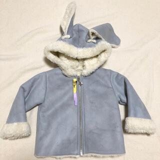 キャラメルベビー&チャイルド(Caramel baby&child )の美品! 韓国子供服 ウサギ ファージャケット コート 80 ベビー(ジャケット/コート)