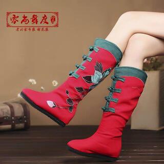 足長 美脚 チャイナ 高品質 漢服 ブーツ 本番 刺繍 本格的(衣装一式)