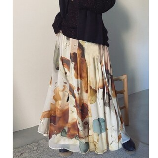 アメリヴィンテージ(Ameri VINTAGE)の新品タグ付き Ameri vintage インクアートスカート(ロングスカート)