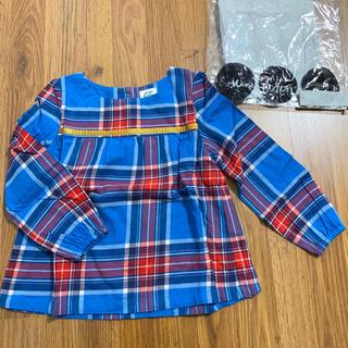 ボーデン(Boden)の新品 mini boden チェック柄チュニックトップ 4-5y 110 (Tシャツ/カットソー)