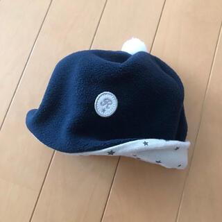 ベベ(BeBe)の赤ちゃん帽子 べべ S フリース 星(帽子)