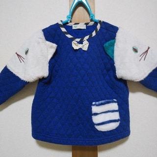 ナルミヤ インターナショナル(NARUMIYA INTERNATIONAL)のbaby cheer 肩ネコトレーナー 90サイズ ベイビーチアー(Tシャツ/カットソー)