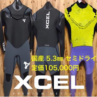 Lサイズ XCEL セミドライ ノンジップ ウェットスーツ フルスーツ ドライ