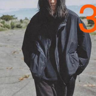 コモリ(COMOLI)のcomoli 20aw ナイロンショートジャケット サイズ3 新品タグ付(ナイロンジャケット)