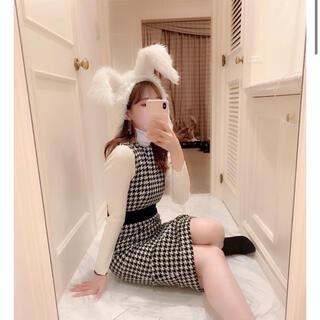 スナイデル(snidel)のJILTU PATTERN DRESS(ひざ丈ワンピース)