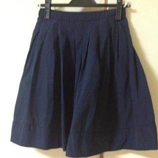 プーラフリーム(pour la frime)のネイビースカート(ひざ丈スカート)