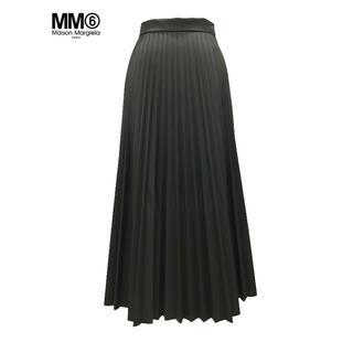 エムエムシックス(MM6)の期間限定◉MM6 Maison Margiela エコレザー プリーツスカート(ロングスカート)