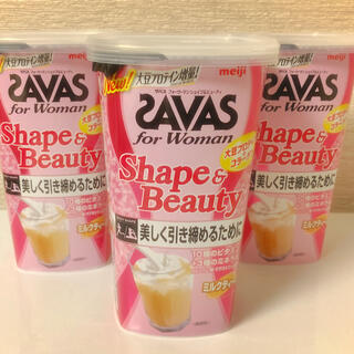 ザバス(SAVAS)の【新品】ザバス シェイプ&ビューティー ミルクティー風味 252g✖️3(プロテイン)