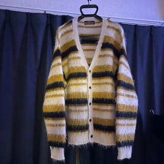アンユーズド(UNUSED)のunused  19aw 5g border knit cardigan(カーディガン)