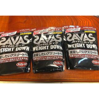 ザバス(SAVAS)の【minsora様専用】アスリート ウエイトダウン チョコレート風味 3袋(プロテイン)
