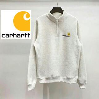 カーハート(carhartt)のcarhartt カーハート 無地 ハーフジップトレーナー ワンポイント(トレーナー/スウェット)