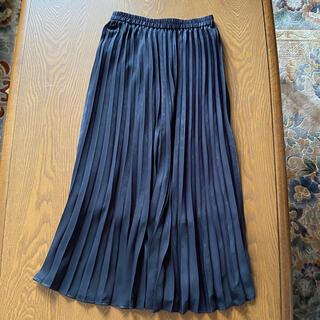 ロートレアモン(LAUTREAMONT)の未着用 ロートレアモンプリーツ ロングスカート ブラック サイズ38(ロングスカート)