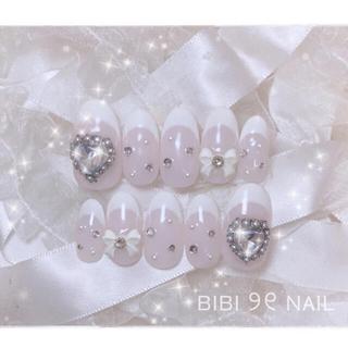 ♡ No.41  量産型 ネイル 韓国 キラキラ ♡
