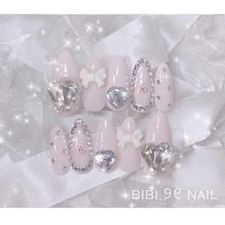 ♡ No.45  量産型 ネイル チップ 韓国 キラキラ ♡