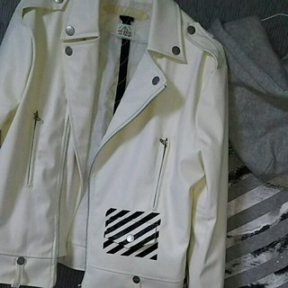 オフホワイト(OFF-WHITE)の【mxchio93さん専用】off-white 大幅値下げ中(ライダースジャケット)