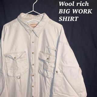 ウールリッチ(WOOLRICH)のWool Rich ウールリッチ オーバーサイズ ビッグ ワーク シャツ 古着(シャツ)