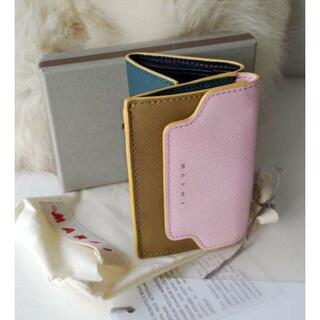 マルニ(Marni)のコイン入れ付♪ MARNI☆サフィアーノレザー 折財布 新品正規品(財布)