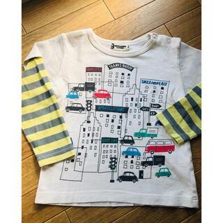 ニットプランナー(KP)のKP 90 長袖 ロンT 重ね着 男の子 車 刺繍 ボーダー(Tシャツ/カットソー)