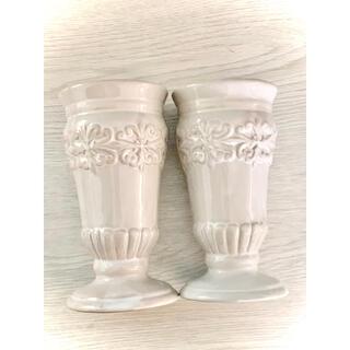 フランフラン(Francfranc)の新品未使用シャビー アンティーク調花瓶ニ個セット(花瓶)