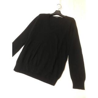 セオリー(theory)の美品 セオリー カシミヤ 100% ニット ブラック 黒 セーター(ニット/セーター)