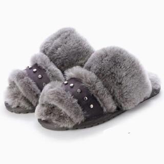 EMU - EMU サンダル スリッパ ムートン ファーサンダル Charcoal