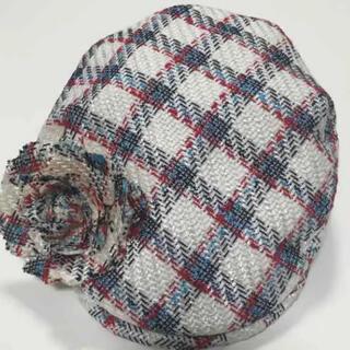 ミサハラダ(misaharada)のミサハラダ コサージュ付きハンチング(ハンチング/ベレー帽)