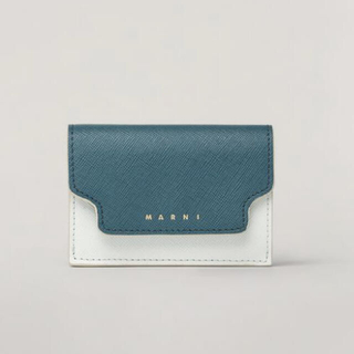 マルニ(Marni)のMARNI 2020 折り畳みサフィアーノレザー トリフォールドウォレット(財布)