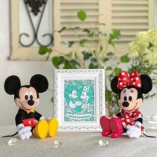 ディズニー(Disney)のミッキーミニー&フォトフレーム ウエディング電報 (ウェルカムボード)