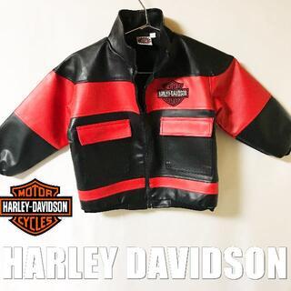 ハーレーダビッドソン(Harley Davidson)の【HARLEY-DAVIDSON】ライダーズジャケット サイズ110(ジャケット/上着)