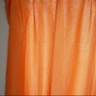 ニッセン(ニッセン)の【着払い】ニッセン 洗えるカーテン オレンジ(カーテン)