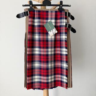 オニール(O'NEILL)の【別注新品】O'NEIL of DUBLIN 100%ウールキルトスカート 10(ひざ丈スカート)