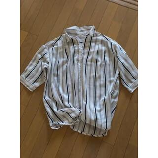 イッツデモ(ITS'DEMO)の裾がアクセントストライプシャツ(シャツ/ブラウス(半袖/袖なし))