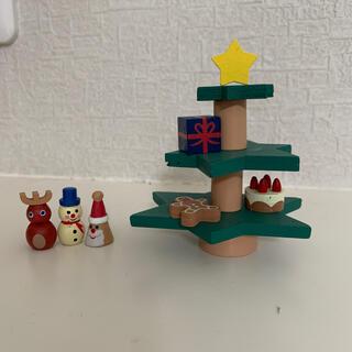カルディ(KALDI)のクリスマスツリー バランスゲーム(置物)