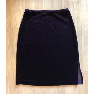 ミッシェルクラン(MICHEL KLEIN)のベロア スカート (ひざ丈スカート)