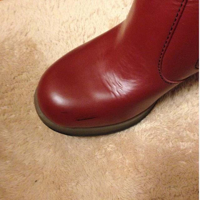 Dr.Martens(ドクターマーチン)のDr.マーチン サイドゴアブーツ赤 レディースの靴/シューズ(ブーツ)の商品写真