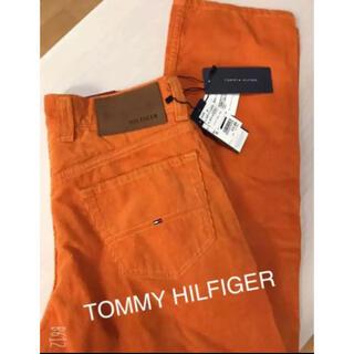 トミーヒルフィガー(TOMMY HILFIGER)のTOMMY HILFIGER☆オレンジカジュアルパンツ 新品(ワークパンツ/カーゴパンツ)