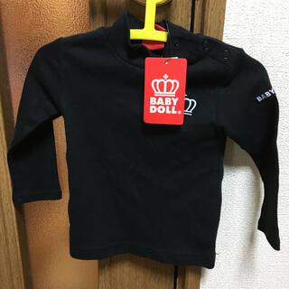 ベビードール(BABYDOLL)のベビド ロンT 80 新品 黒(シャツ/カットソー)