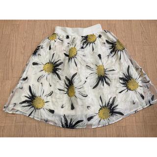 アントマリーズ(Aunt Marie's)のアントマリーズ マーガレットオーガンジースカート(ひざ丈スカート)
